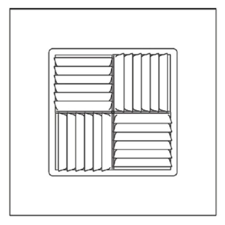 View 4 of Shoemaker 700MA-10X10-6 10X10-6 Soft White Modular Core Diffuser in T-Bar Panel - Shoemaker 700MA