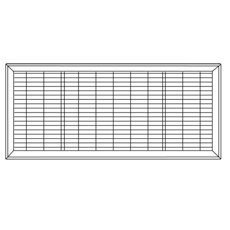 View 5 of Shoemaker 1600-R-8X36 8x36Driftwood Tan Vent Cover (Steel Honeycomb Construction) - Shoemaker 1600R