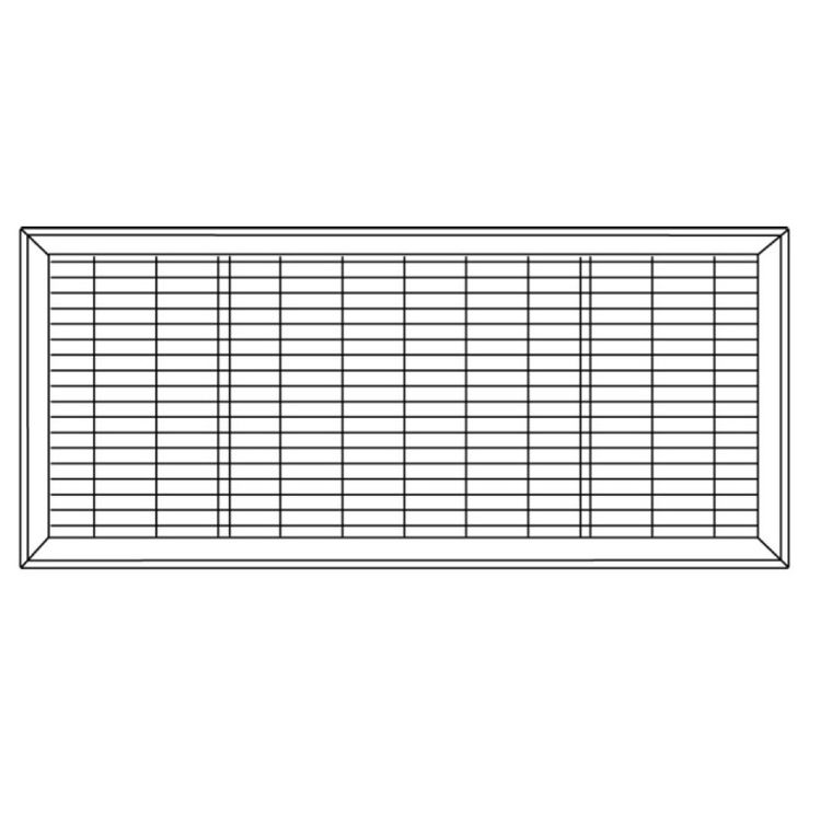 View 7 of Shoemaker 1600-R-16X36 16x36 Driftwood Tan Vent Cover (Steel Honeycomb Construction) - Shoemaker 1600R