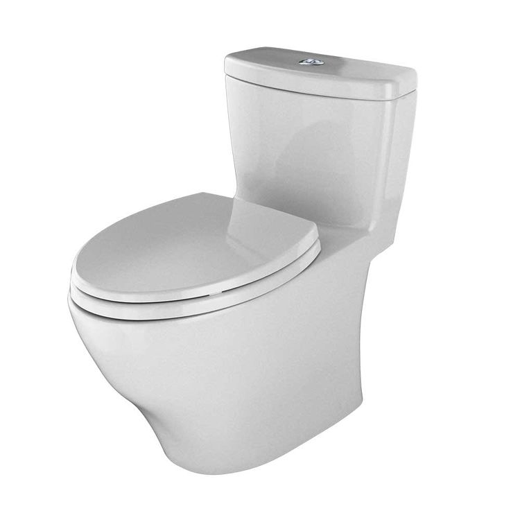 View 4 of Toto MS654114MF#11 TOTO Aquia One-Piece Elongated Dual-Max, Dual Flush 0.9 & 1.6 GPF Universal Height Skirted Toilet, Colonial White - MS654114MF#11