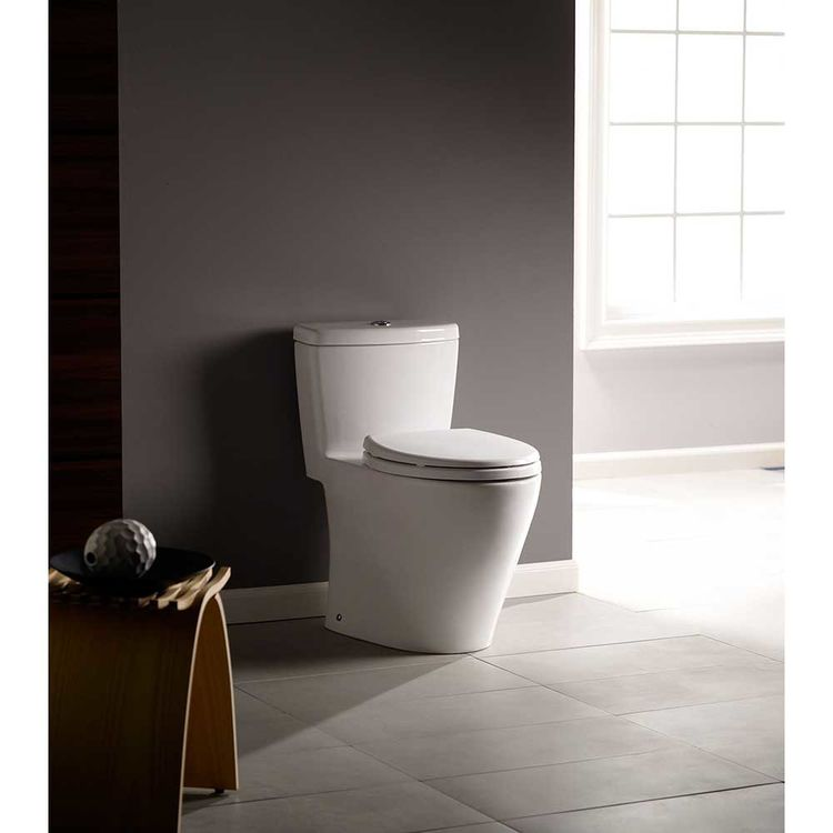 View 9 of Toto MS654114MF#11 TOTO Aquia One-Piece Elongated Dual-Max, Dual Flush 0.9 & 1.6 GPF Universal Height Skirted Toilet, Colonial White - MS654114MF#11