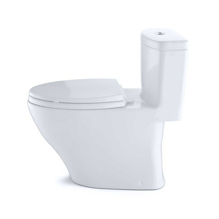 View 3 of Toto MS654114MF#01 Toto MS654114MF#01 Aquia One-Piece Dual Flush Elongated Toilet, 1.6 GPF and 0.9 GPF - Cotton White