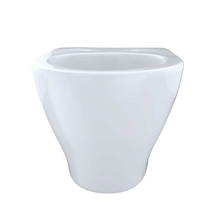 View 4 of Toto CT418F#01 Toto Aquia Wall-Hung Elongated Toilet Bowl with Skirted Design, Cotton White - CT418F#01