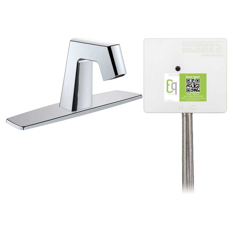 View 3 of Chicago Faucet EQ-B13A-41ABCP Chicago Faucets EQ-B13A-41ABCP EQ Chrome EQ Angular Series Lavatory Sink Faucet with Hands-free Infrared Detection