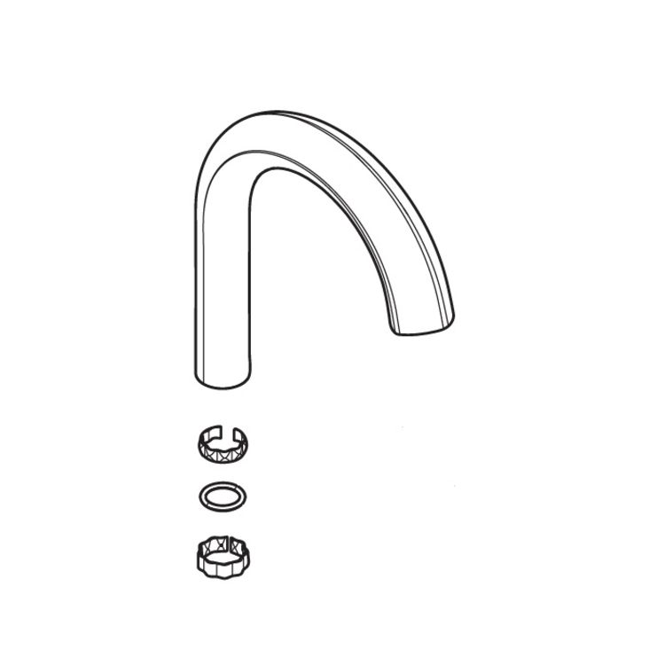 View 3 of Moen 175983SRS Moen 175983SRS Spout Kit, Spot Resistant Stainless