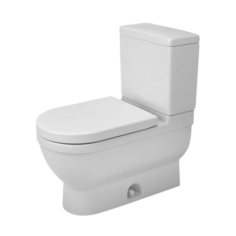 View 4 of Duravit 2125010000 Duravit 2125010000 Starck 3  Floor Mounted Elongated US-Version Toilet - White