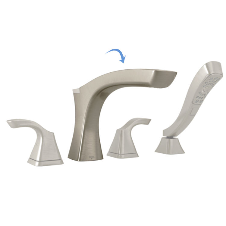 View 3 of Delta RP78520SS Delta RP78520SS Non-Diverter Roman Tub Spout Assembly, Stainless
