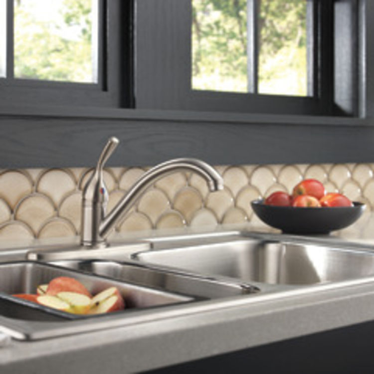 View 3 of Delta 100-SS-DST Delta 100-SS-DST Brilliance Stainless Single Handle Kitchen Faucet