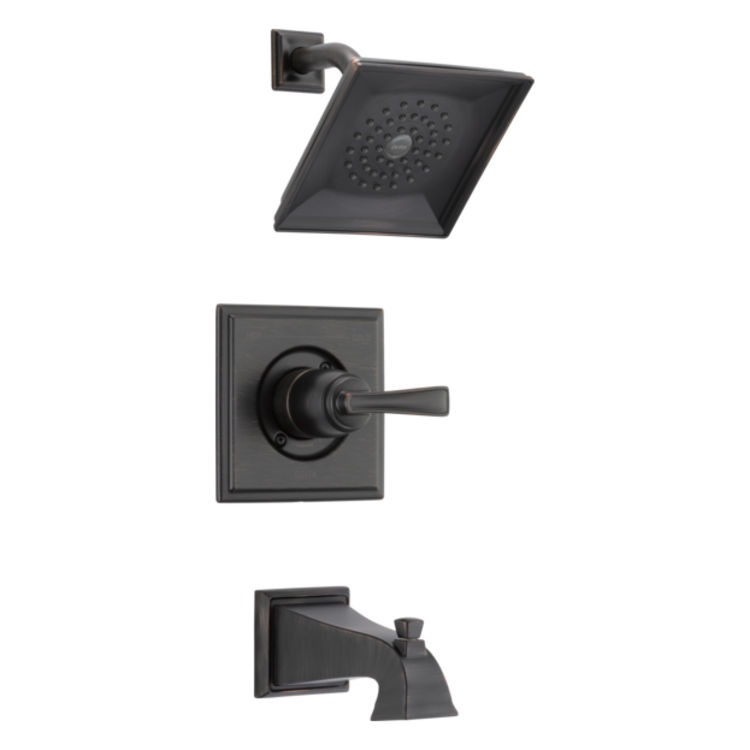 View 3 of Delta RP77035RB Delta RP77035RB Olmsted Square-Shaped Tub/Shower Trim Valve Escutcheon, Venetian Bronze