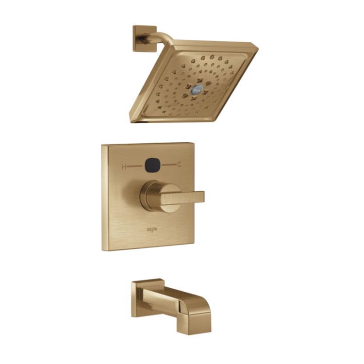 View 5 of Delta RP78577CZ Delta RP78577CZ Angular Modern Temp20 Escutcheon -  Champagne Bronze