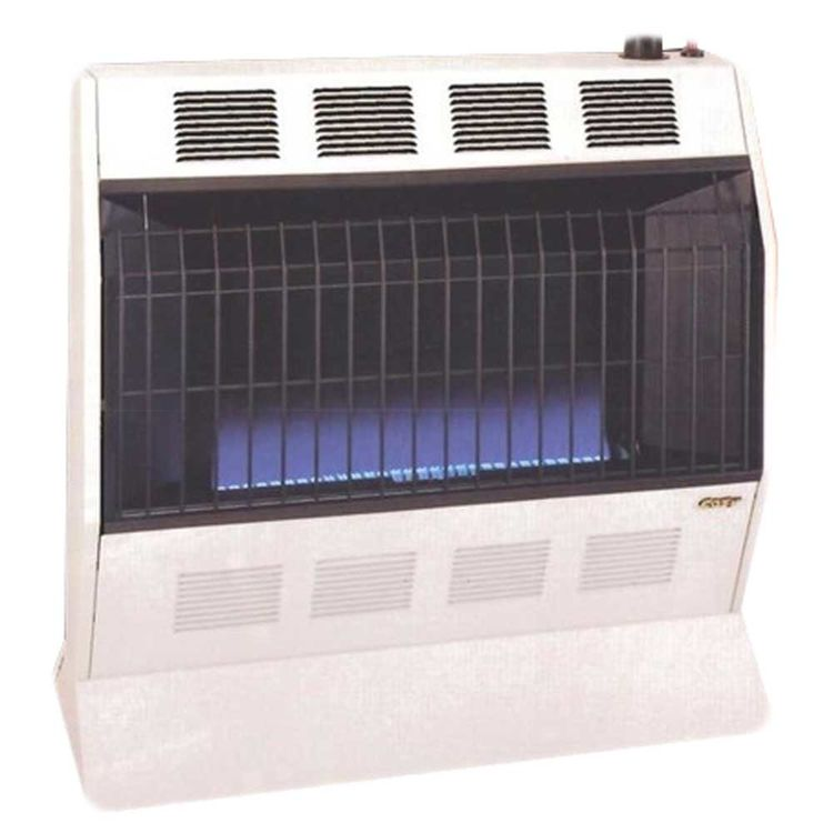 View 4 of Cozy BFT101 Cozy BFT101 10,000 BTU Vent-Free Blue Flame Heater, Neutral Bone
