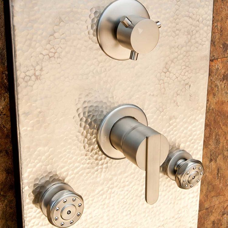 View 3 of Pulse 1027 Pulse 1027 Hand-Forged Panel Vaquero ShowerSpa, Hammered Nickel Finish