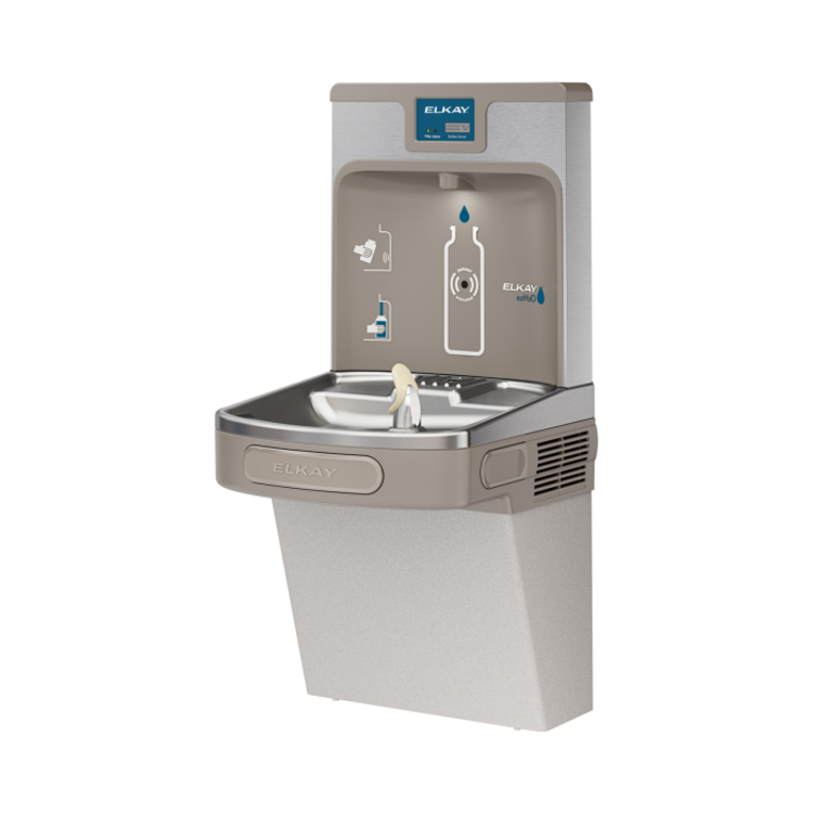View 4 of Elkay LZS8WSLP Elkay LZS8WSLP Enhanced ezH2O Bottle Filling Station w/ Single Cooler - Filtered, 8 GPH, Wall Mount, ADA, Light Gray Granite
