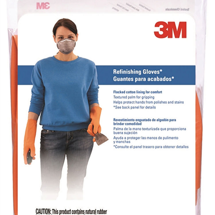 View 3 of 3M 90017T Tekk Protection 900 Protective Gloves, X-Large, Cotton Flocked Lining