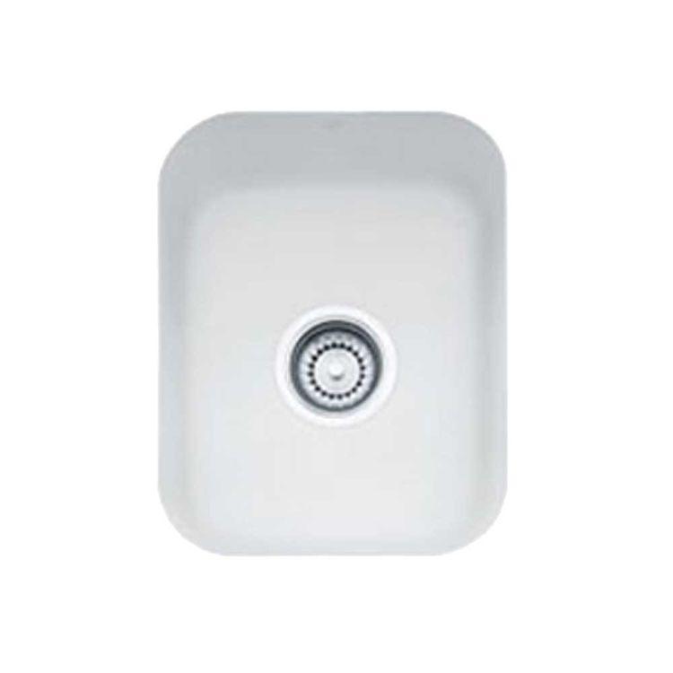 Franke CCK110-13MW Franke CCK110-13MW Single Bowl Undermount Fireclay Undermount Sink - Matte White