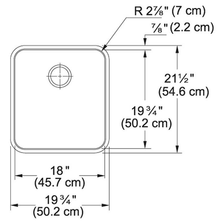 View 3 of Franke GDX11018 Franke GDX11018 Single Bowl Undermount Stainless Undermount Sink - Stainless
