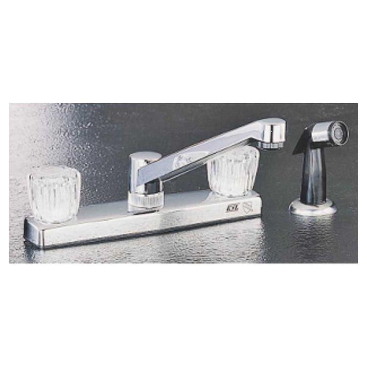 Toolbasix PF8211A Toolbasix PF8211A Kitchen Faucet, 2 Handle, Spray, Chrome