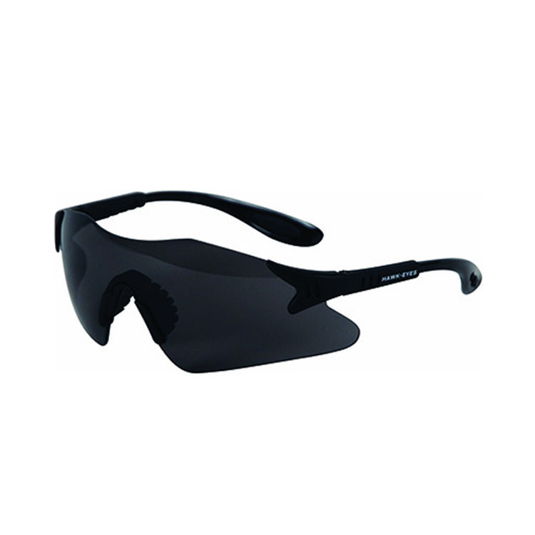 Christy's HE-S Christy's HE-S Hawk Eye Safety Glasses - Smoke