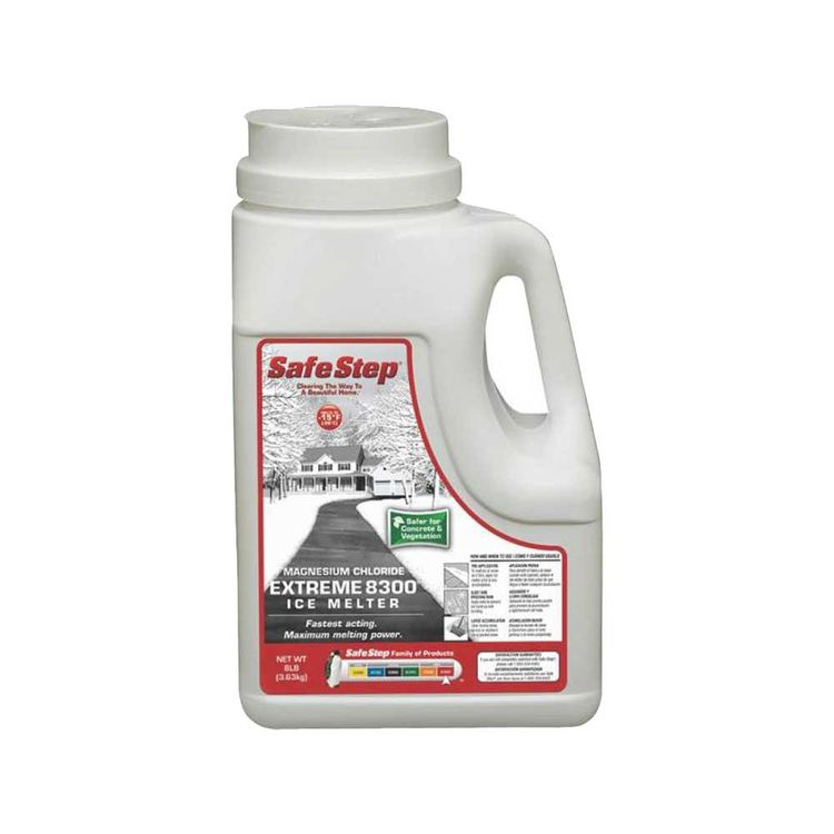 View 2 of North American Salt 53808 Safe Step Extreme 8300 Ice Melter, 8 lb, Jug, -15 deg F, Gray/White, Granular Solid