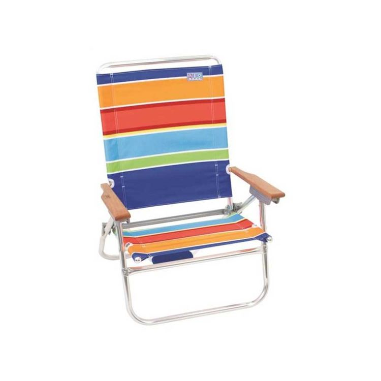 Rio 21508OG/1603O RIO SC6021508OG/1603O Easy In-Easy Out Beach Chair, 35-3/4 in H x 24-1/2 in W x 25 in D, Aluminum Frame