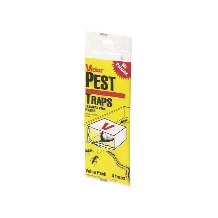 Woodstream M184 Victor M184 Disposable Pest Glue Trap, 5 in W X 8-3/4 in D