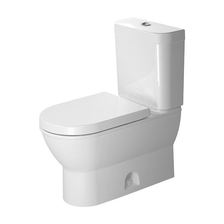 View 6 of Duravit 21260100001 Duravit 21260100001 Darling New Single Flush Two-Piece Floor Mounted Elongated Toilet - White