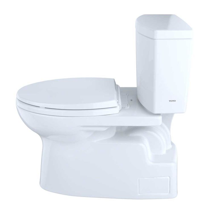View 4 of Toto CST474CUFRG#01 TOTO Vespin II 1G Two-Piece Elongated 1.0 GPF Universal Height Skirted Toilet with CeFiONtect and Right-Hand Trip Lever, Cotton White - CST474CUFRG#01