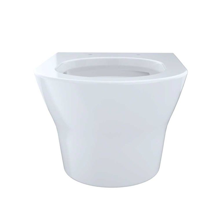 View 3 of Toto CT437FG#01 Toto MH Wall-Hung D-Shape Toilet Bowl Only, Cotton White - CT437FG#01
