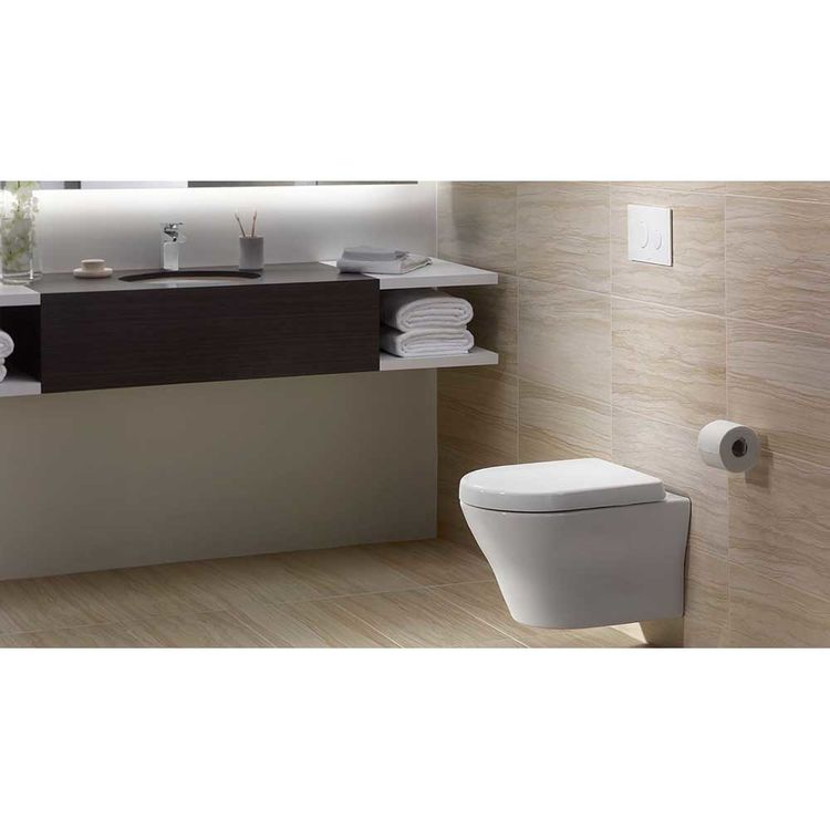 View 3 of Toto CWT437117MFG-3#01 TOTO MH Wall-Hung D-Shape Toilet and DuoFit in-wall 0.9 GPF and 1.28 GPF Dual-Flush Tank System with PEX Supply, Cotton White - CWT437117MFG-3#01