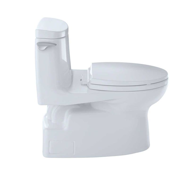 View 5 of Toto MS614114CUFG#01 TOTO Carlyle II 1G One-Piece Elongated 1.0 GPF Universal Height Skirted Toilet with CeFiONtect, Cotton White - MS614114CUFG#01