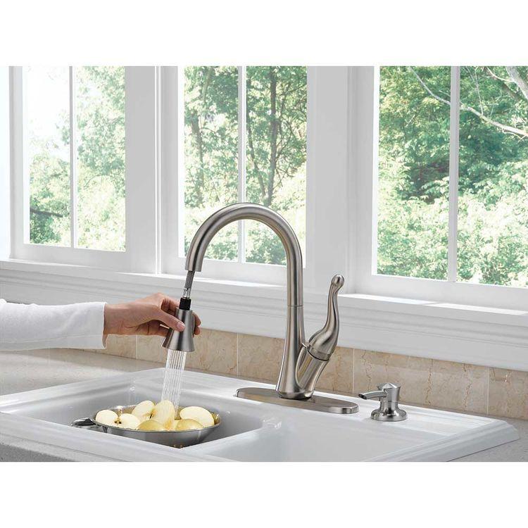 View 4 of Delta 16968-SSSD-DST Delta 16968-SSSD-DST Talbott Stainless Kitchen Pulldown Faucet W/ Soap Dispenser