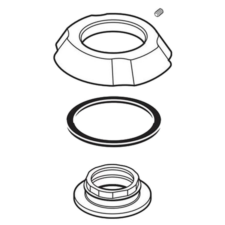View 4 of Delta RP61289 Delta RP61289 Addison Flange Assembly for Widespread - Chrome