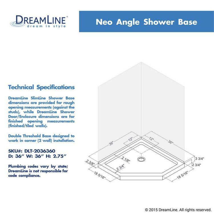 View 16 of Dreamline DL-6050-22-04 DreamLine DL-6050-22-04 Prism Lux 36