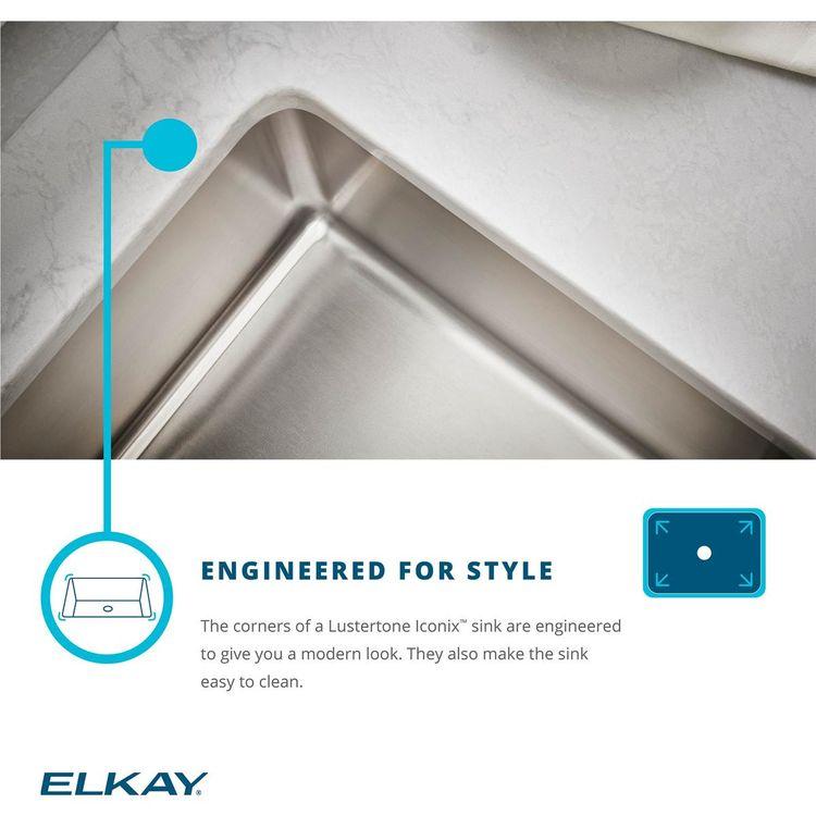 View 9 of Elkay ETRU30179PD Elkay Lustertone Iconix Stainless Steel 32-1/2