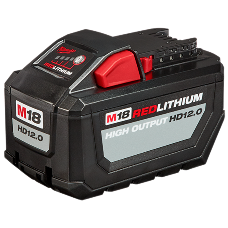 View 3 of   Mikwaukee 48-11-1812 M18 Redlithium High Output HD12.0 Battery Pack