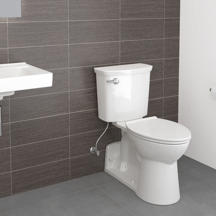 View 5 of American Standard 209AA137.020 American Standard Yorkville 209AA.137.020 White VorMax 1.28 GPF Elongated Toilet