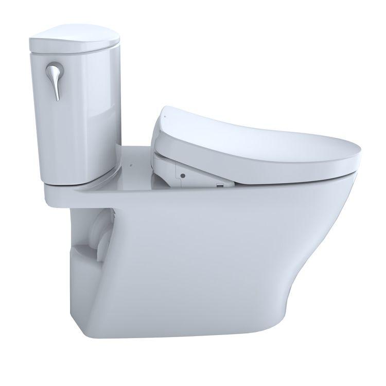 View 7 of Toto MW4423056CEFGA#01 TOTO WASHLET+ Nexus Two-Piece Elongated 1.28 GPF Toilet with Auto Flush S550e Contemporary Bidet Seat, Cotton White - MW4423056CEFGA#01