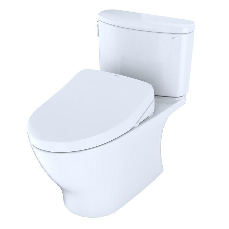 View 4 of Toto MW4423056CEFGA#01 TOTO WASHLET+ Nexus Two-Piece Elongated 1.28 GPF Toilet with Auto Flush S550e Contemporary Bidet Seat, Cotton White - MW4423056CEFGA#01