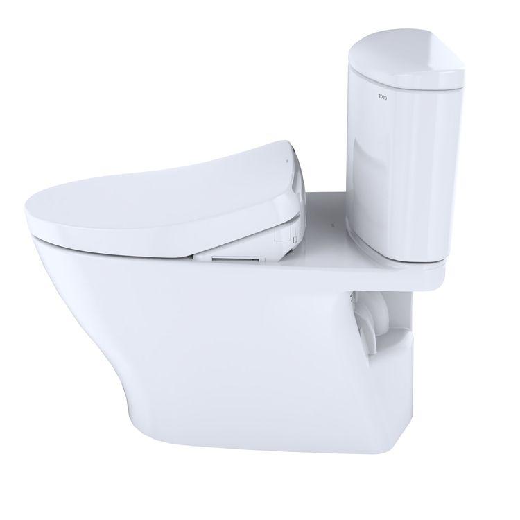 View 5 of Toto MW4423056CEFGA#01 TOTO WASHLET+ Nexus Two-Piece Elongated 1.28 GPF Toilet with Auto Flush S550e Contemporary Bidet Seat, Cotton White - MW4423056CEFGA#01