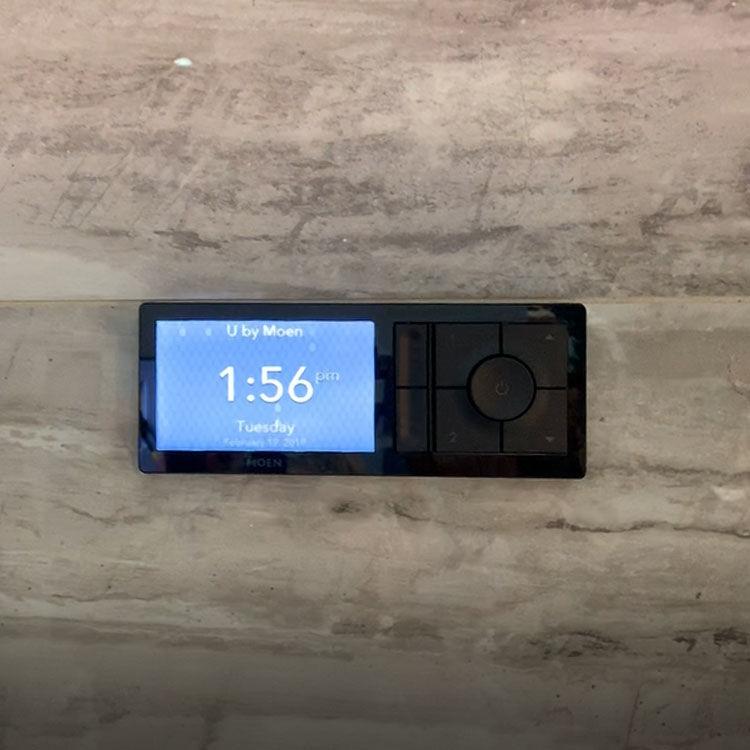 View 5 of Moen TS3302BL Moen TS3302BL U by Moen Two-Outlet Digital Shower Controller - Matte Black