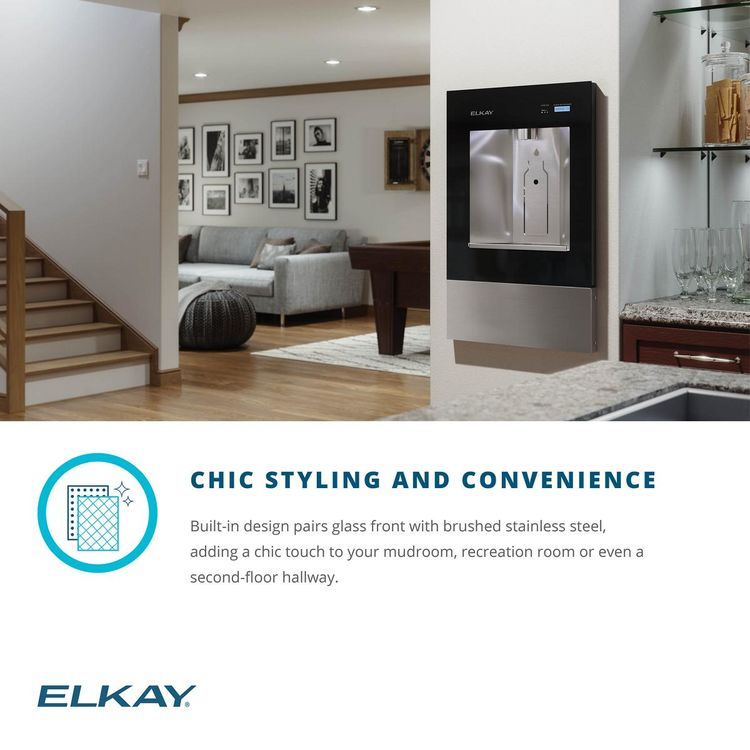 View 8 of Elkay LBWD00WHC Elkay ezH2O Liv Built-in Filtered Water Dispenser, Non-refrigerated, Aspen White - LBWD00WHC