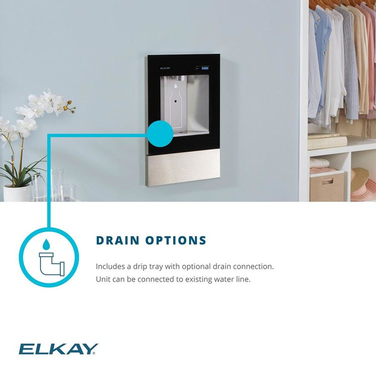 View 8 of Elkay LBWD06BKK Elkay LBWD06BKK ezH2O Liv Built-in Filtered Water Dispenser, Remote Chiller, Midnight