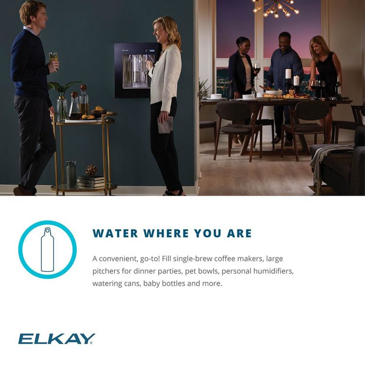 View 13 of Elkay LBWD06BKK Elkay LBWD06BKK ezH2O Liv Built-in Filtered Water Dispenser, Remote Chiller, Midnight