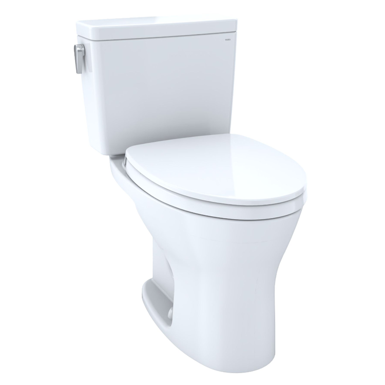 View 3 of Toto CST746CSMFG#01 TOTO CST746CSMFG#01 Drake Two-Piece Toilet 1.6 GPF & 0.8 GPF Elongated Bowl Universal Height -  Cotton White