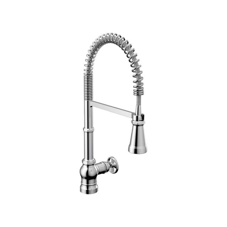 View 3 of Moen S72103 Moen S72103 Paterson One Handle Semi Pro Kitchen Faucet, Chrome
