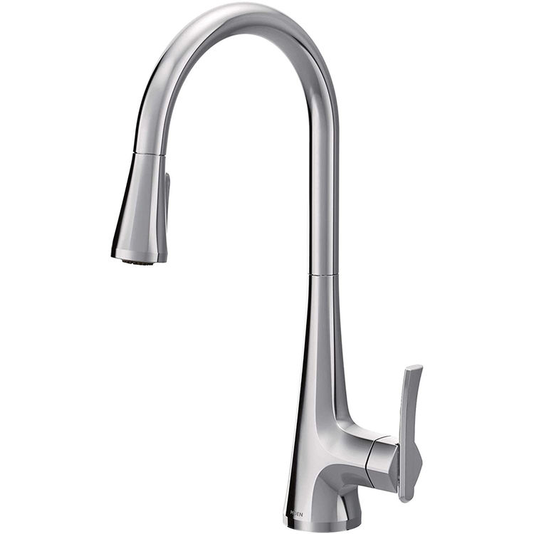 View 6 of Moen S7235 Moen S7235 Sinema One-Handle Pulldown Kitchen Faucet - Chrome