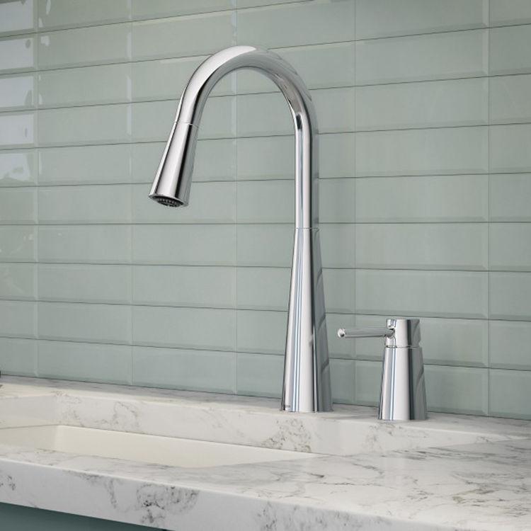 Moen 7871 Sleek Pulldown Kitchen Faucet W Deck Mount Handle Chrome