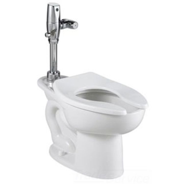 American Standard 3461.660.020 American Standard 3461.660.020 Madera EverClean Toilet with Selectronic Exposed Battery Flush Valve System - 1.6 GPF, White