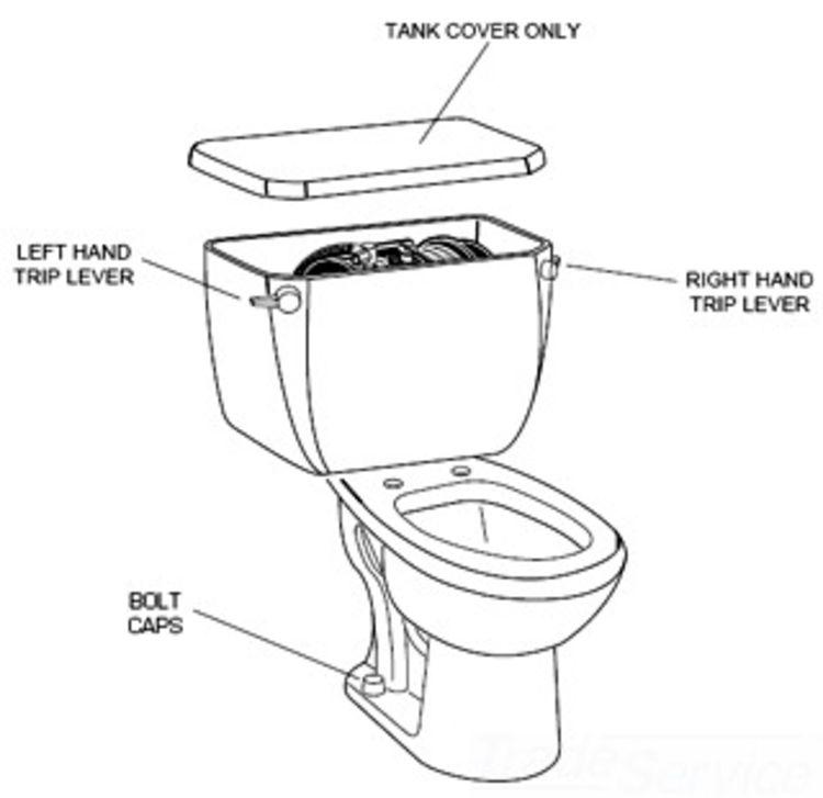 American Standard 738254-0020A American Standard 738254-0020A Left Hand Toilet Tank Trip Lever