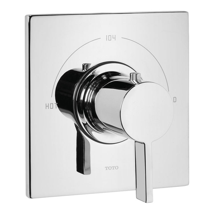 toto ts624t polished chrome legato thermostatic mixing valve trim plumberss. Black Bedroom Furniture Sets. Home Design Ideas